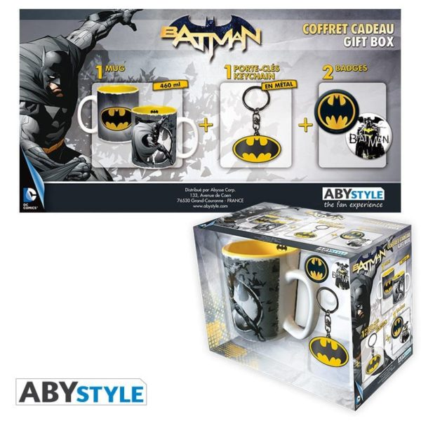 Coffret Dc comics : Batman (mug, porte-clés, badges)