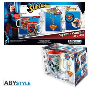 Coffret Dc comics : Superman (mug, porte-clés, badges)