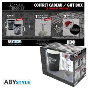 Coffret Game of thrones : Stark (mug, porte-clés, badges)