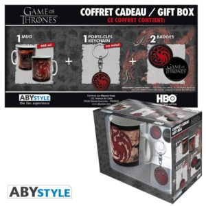 Coffret Game of thrones : Targaryen (mug, porte-clés, badges)