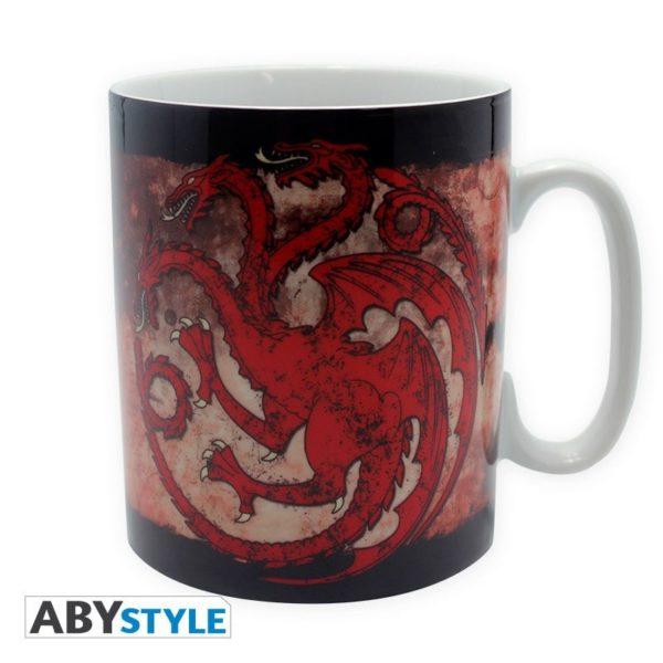 Coffret Game of thrones : Targaryen (mug, porte-clés, badges)