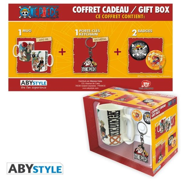 Coffret One piece : New world (mug, porte-clés, badges)