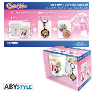 Coffret Sailor moon (mug, porte-clés, badges)