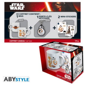 Coffret Star Wars : BB8 (mug, porte-clés, stickers)