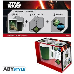 Coffret Star Wars : Yoda (mug, porte-clés, badges)