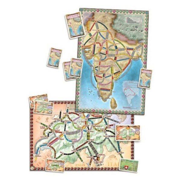 Jeu de société - Les aventuriers du rail Europe : Inde / Suisse (extension)
