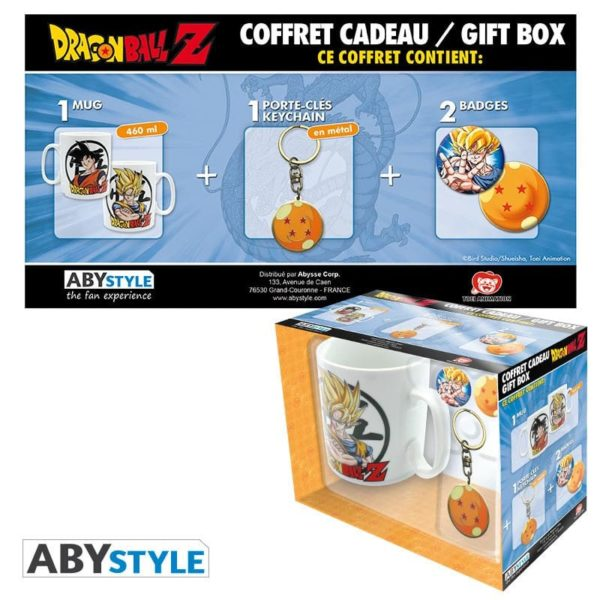 Coffret Dragon ball (mug, porte-clés, badges)