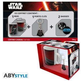 Coffret Star Wars : Vador (mug, porte-clés, badges)