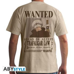 T-shirt One piece : Wanted Trafalgar law