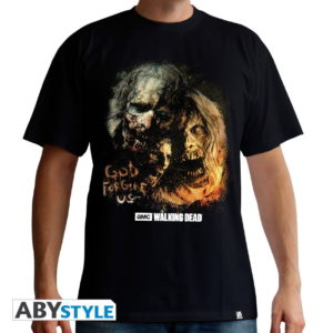 T-shirt the walking dead : God forgive us