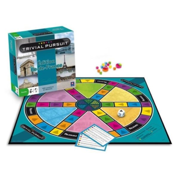 Jeu de société - Trivial pursuit Ile-de-France (1 800 questions)