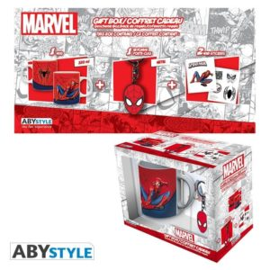 Coffret Marvel : Spiderman (mug, porte-clés, badges)