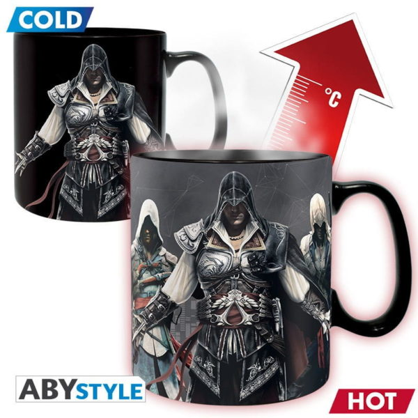Mug Assassin's creed : Groupe - thermoréactif (460ml)