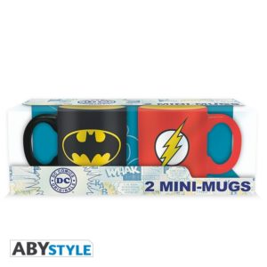 Mini-mugs Dc comics : Batman et Flash (110ml)