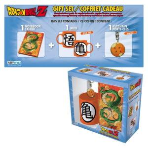 Coffret Dragon ball (mug, porte-clés, cahier)