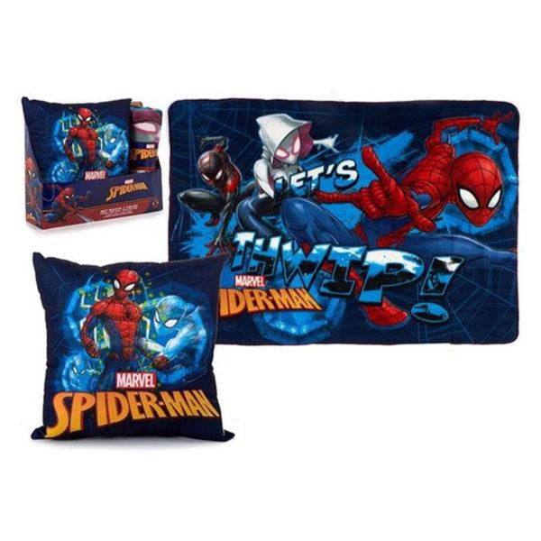 Set coussin et couverture Spider man