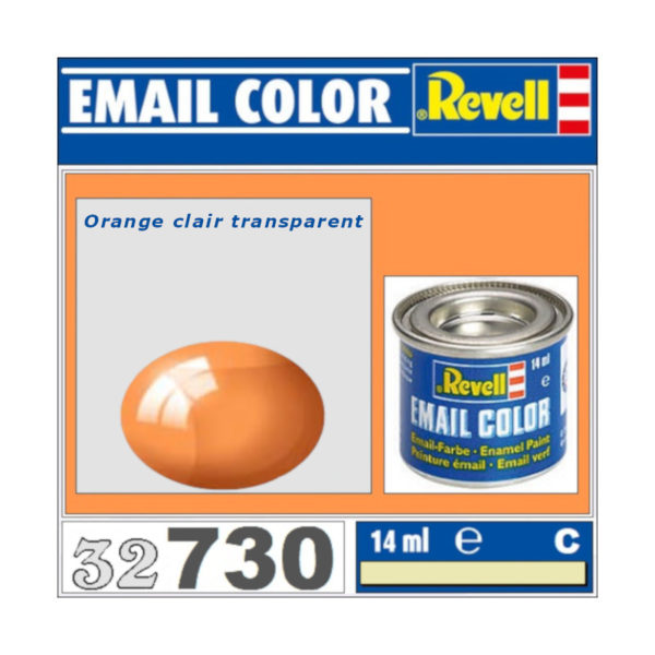 Peinture Revell - Orange clair transparent