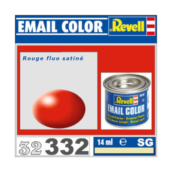 Peinture Revell - Rouge fluo satiné