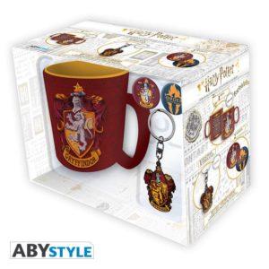 Coffret Harry Potter : Griffondor (mug, porte-clés, badges)