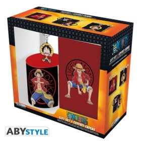Coffret One piece : Luffy (mug, porte-clé, cahier)