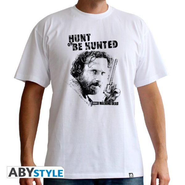 T-shirt the Walking dead : Hunt or be Hunted