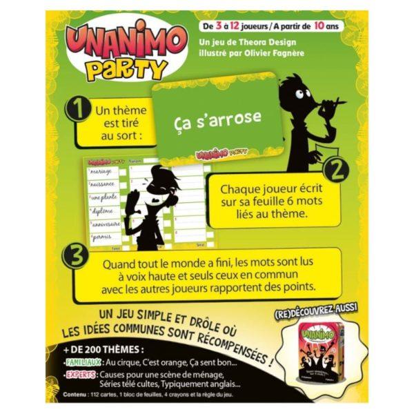 Jeu de société - Unanimo party